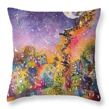 Street Dance Throw Pillow