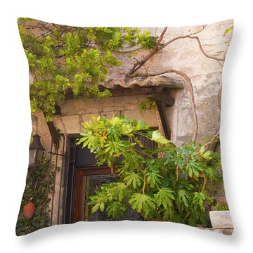 Street Entrance Throw Pillow by Bob Phillips