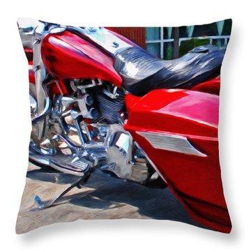 Street Glide Throw Pillow