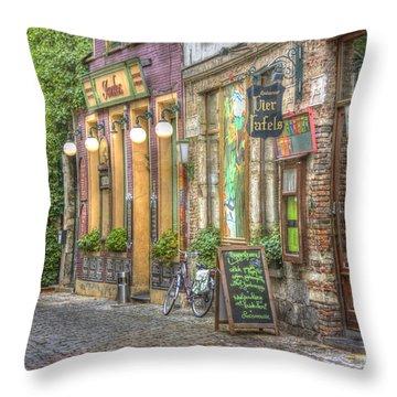 Street In Ghent Throw Pillow