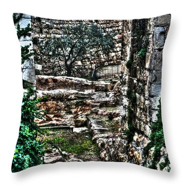 Throw Pillow featuring the photograph Street In Jerusalem by Doc Braham