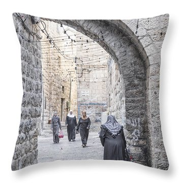 Street In Jerusalem Old Town Israel Throw Pillow