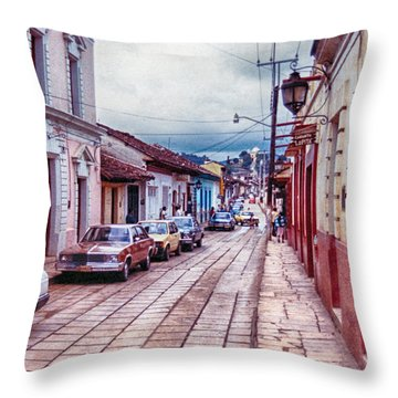 Street In Las Casas Throw Pillow