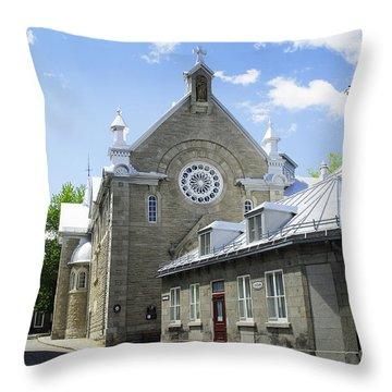 Street In Quebec Throw Pillow