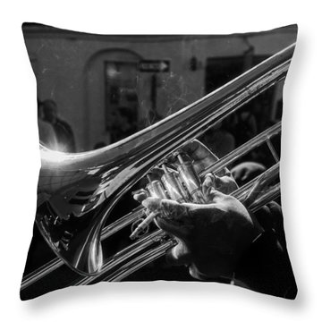 Street Jazz Throw Pillow