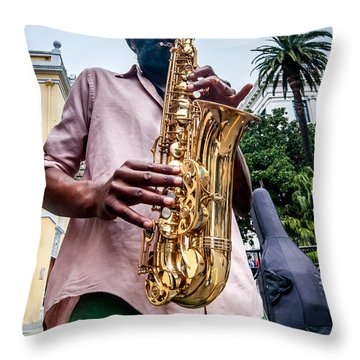 Street Jazz On Display Throw Pillow