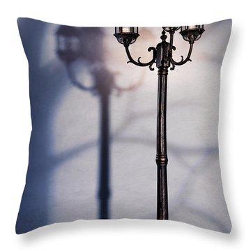 Street Lamp At Night Throw Pillow by Oleksiy Maksymenko