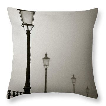 Street Lamps Throw Pillow by Dave Bowman