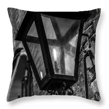 Street Light In Black And White Throw Pillow by John McGraw