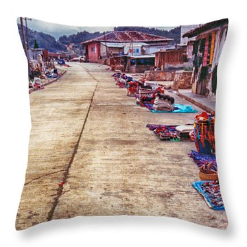 Street Market Throw Pillow