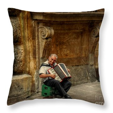 Street  Music Throw Pillow by Valerie Reeves