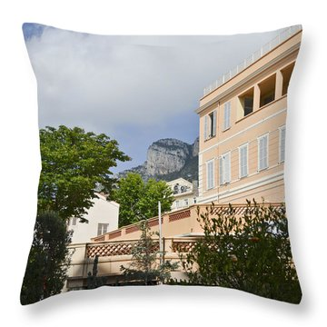 Throw Pillow featuring the photograph Street Of Monaco by Allen Sheffield
