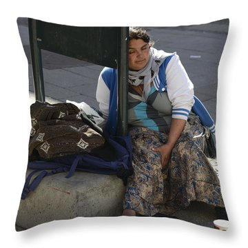 Street People - A Touch Of Humanity 10 Throw Pillow by Teo SITCHET-KANDA
