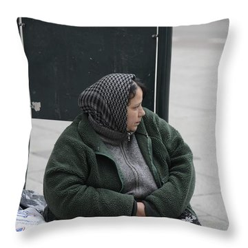 Street People - A Touch Of Humanity 9 Throw Pillow by Teo SITCHET-KANDA