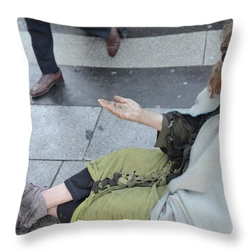 Street People - A Touch Of Humanity 25 Throw Pillow