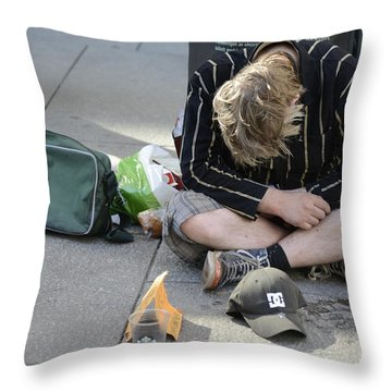 Street People - A Touch Of Humanity 8 Throw Pillow
