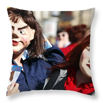 Street Performers Throw Pillow