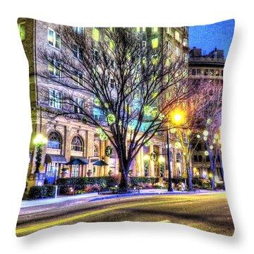 Street Scene In Georgia Throw Pillow