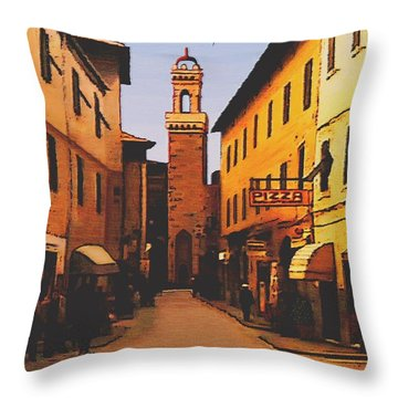 Throw Pillow featuring the painting Street Scene by Sophia Schmierer