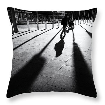 Street Shadow Throw Pillow