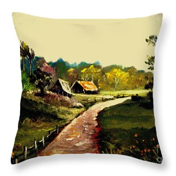 Street  To Countryside Throw Pillow
