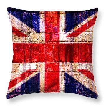 Street Union Jack Throw Pillow