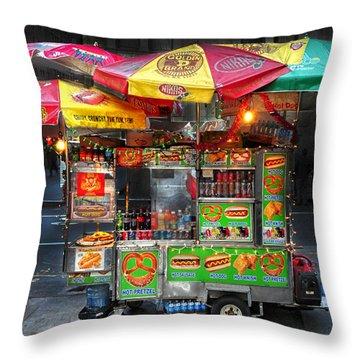Throw Pillow Vendors : Street Vendor Nyc Photograph by Dave Mills