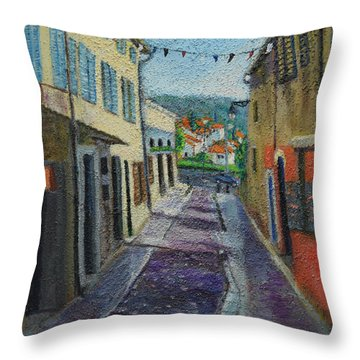 Street View From Provence Throw Pillow