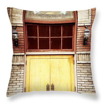 Street View Throw Pillow by Melanie Lankford Photography