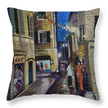 Street View Provence 2 Throw Pillow
