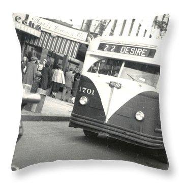 Streetcar Named Desire Throw Pillow