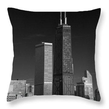 Streeterville Chicago Illinois B W Throw Pillow
