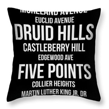 Streets Of Atlanta 2 Throw Pillow