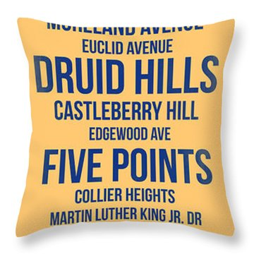 Streets Of Atlanta 3 Throw Pillow