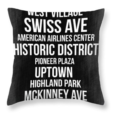 Streets Of Dallas 2 Throw Pillow by Naxart Studio