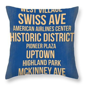 Streets Of Dallas 3 Throw Pillow