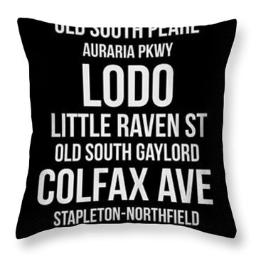 Streets Of Denver 2 Throw Pillow