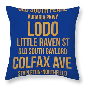 Streets Of Denver 3 Throw Pillow