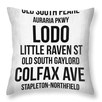 Streets Of Denver 4 Throw Pillow