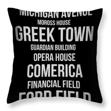 Streets Of Detroit 2 Throw Pillow