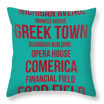 Streets Of Detroit 4 Throw Pillow