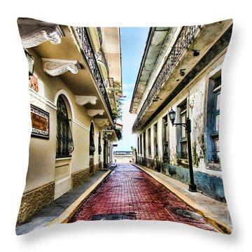 Streets Of El Casco Viejo 2  Throw Pillow
