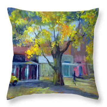 Streets Of Genoa Throw Pillow by Judie White