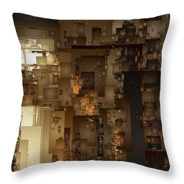 Streets Of Gold Throw Pillow by David Hansen