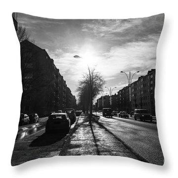 Streets Of Helsinki Throw Pillow