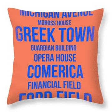 Streets Of Detroit 5 Throw Pillow