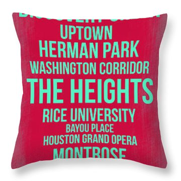 Streets Of Houston 2 Throw Pillow