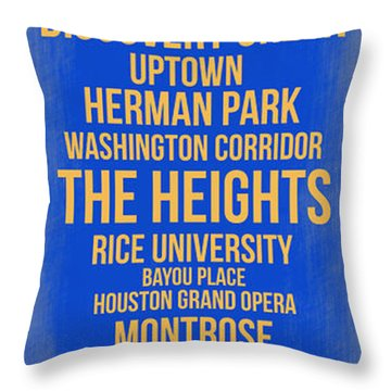 Streets Of Houston 3 Throw Pillow
