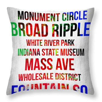 Streets Of Indianapolis 1 Throw Pillow
