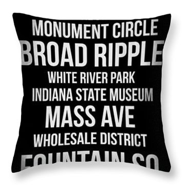 Streets Of Indianapolis 2 Throw Pillow